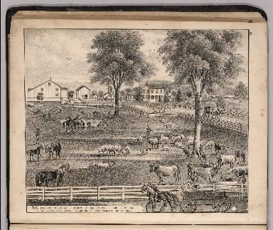 View: Farm and Residence of Henry J. Miller, Ottawa County, Ohio.