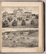 View: Court House & County Offices, Ottawa County, Ohio. Residence of J. Shultz.