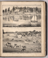 View: Residences of Ernest Franck, Charles Roose, Ottawa County, Ohio.