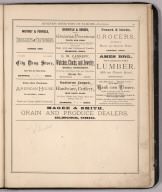 Advertisement: Business Directory of Elmore --- Continued, Ottawa County, Ohio.