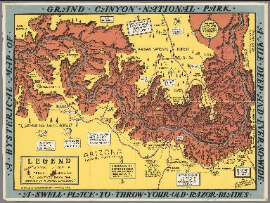 A Hysterical Map of the Grand Canyon National Park.