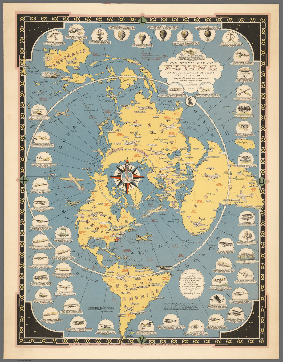 The story map of flying : Being a chronicle of man's conquest of the air