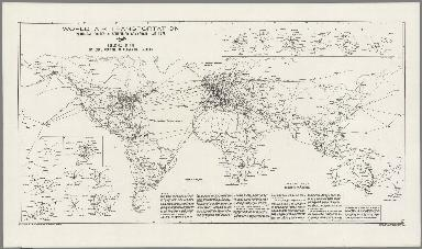 World Air Transportation, Principal Routes of Scheduled Commercial Airlines.