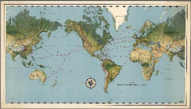 Routes of Pan American World Airways System.