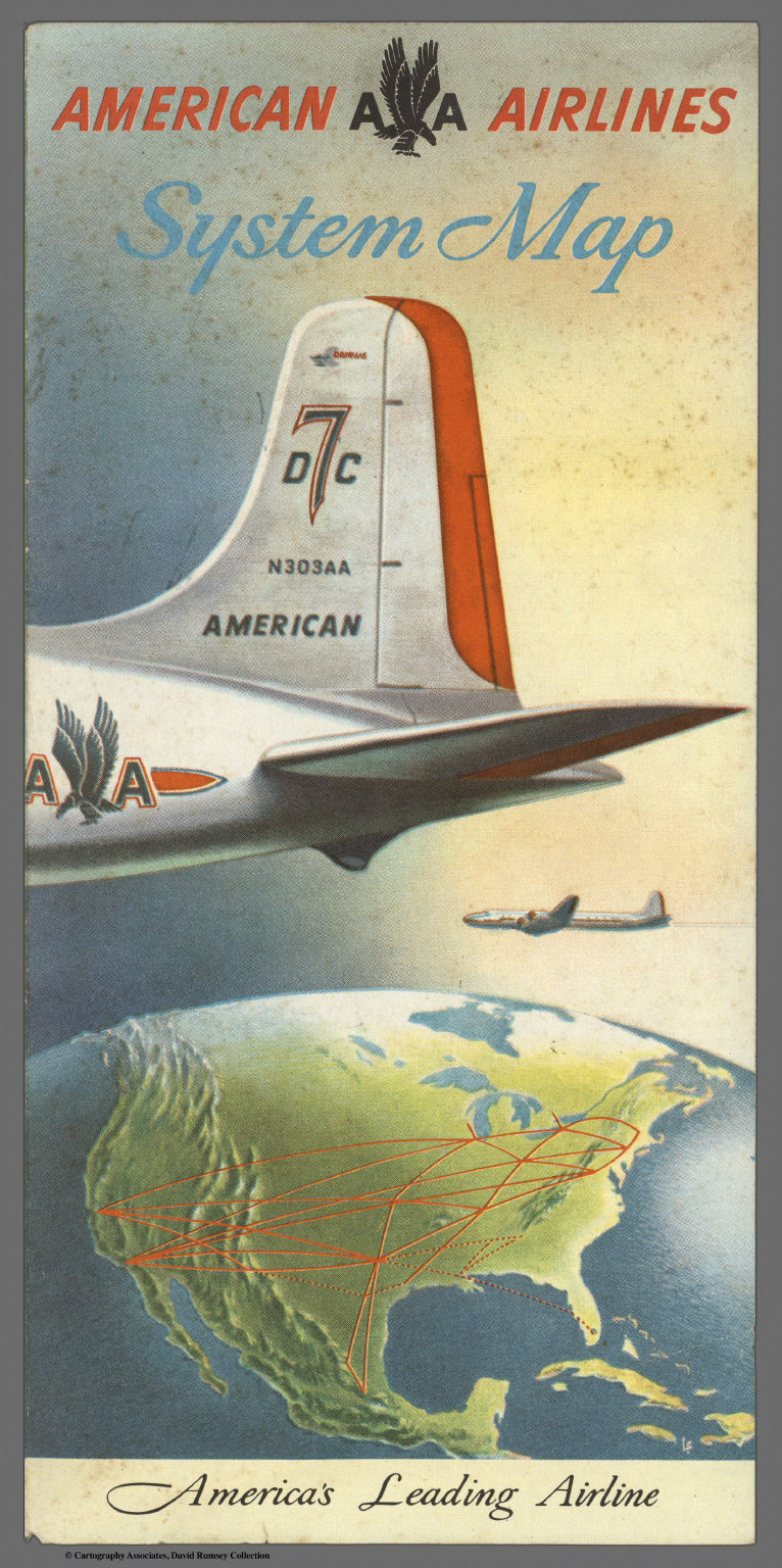 Covers: American Airlines system map