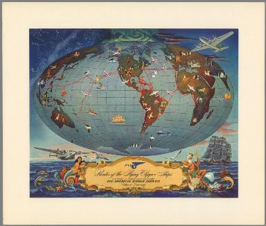 Routes of the Flying Clipper Ships.