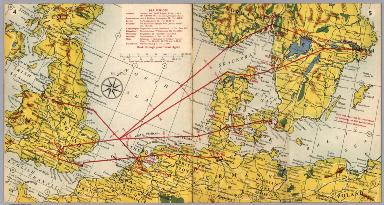 BEA route map : London to Stockholms