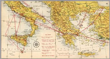 BEA route map : Rome and Munich to Turkey