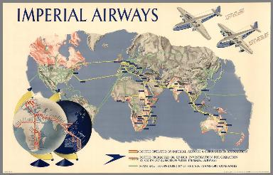 Imperial Airways [Map of The World]. IA/P/191 20m 5/37