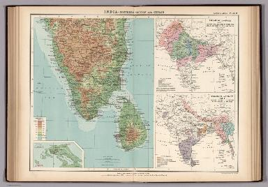 Plate 12. India - Southern Section and Ceylon.
