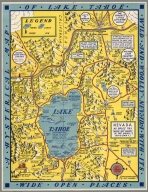 A Hysterical Map of Lake Tahoe and Woolly Nevada with Its Wide Open Places.