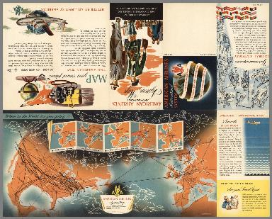 Covers: American Airlines International System Map.