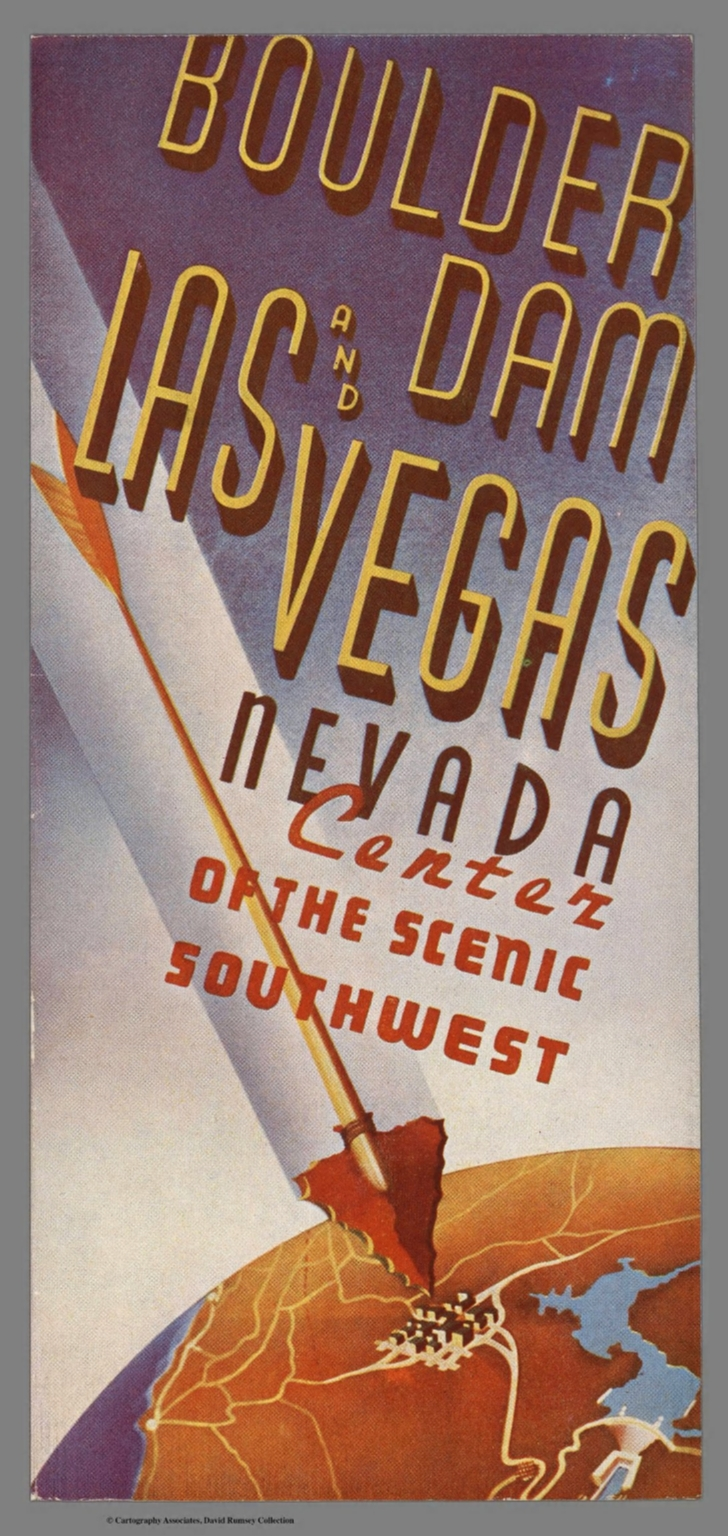 Covers: Boulder Dam and Las Vegas, Nevada, center of the scenic Southwest