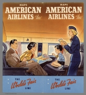 Covers: Maps American Airlines Inc. The worlds' fair line