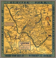 A hysterical map of Glacier Park and Blackfeet Reservation