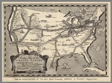 Airway Map of the United States.
