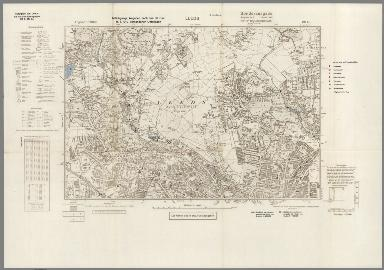 Street Map of Leeds, England with Military-Geographic Features. BB 9q.