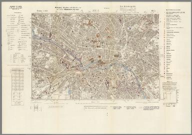 Street Map of Leeds, England with Military-Geographic Features. BB 9s.