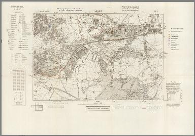 Street Map of Leeds, England with Military-Geographic Features. BB 9t.