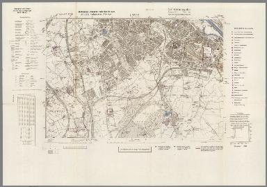 Street Map of Leeds, England with Military-Geographic Features. BB 9u.