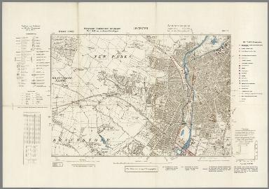 Street Map of Leicester, England with Military-Geographic Features. BB 17f.