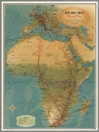 South African Airways Route Map.