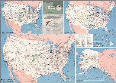 Airline map of the United States ... 1965