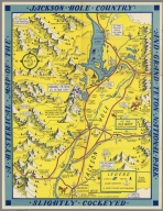 A hysterical map of the Jackson Hole country and Grand Teton National Park