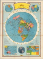 Air age map of the world. A polar projection