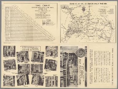 Principal Airways Routes of the United States. (Text Page) Time chart ...