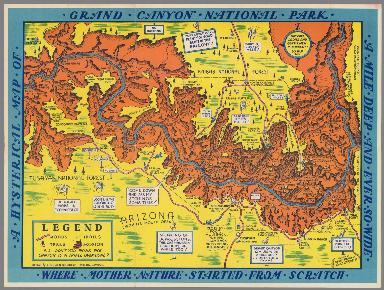 A Hysterical Map of the Grand Canyon National Park