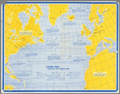 Pan Am Route of the Clipper Jets.