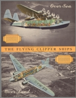 """Only """"via Pan American"""" can you travel abroad the famous fleet of The flying clipper ships"""