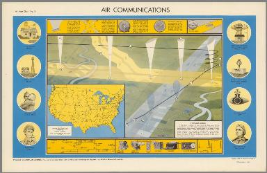 Air Communications. Air Age Chart No. 5. (View) Instrument landing.