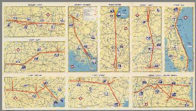Delta Airlines system route maps