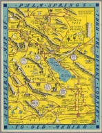 A Hysterical map of Palm Springs thru the desert country to old Mehiko