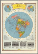 Air age map of the world