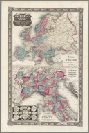 Colton's Europe ; Colton's Northern Italy : seat of war