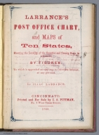 Title Page: Larrance's Post office chart, and maps of ten states