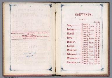 Contents: Larrance's Post office chart, and maps of ten states