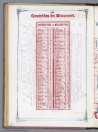 Index Page: Counties in Missouri