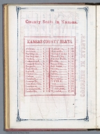 Index Page: County Seats in Kansas