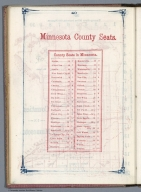 Index Page: Minnesota County Seats