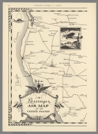Passenger Air Map of the United States (western sheet).