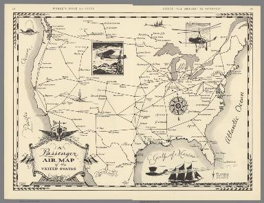 Composite Map: Passenger Air Map of the United States.