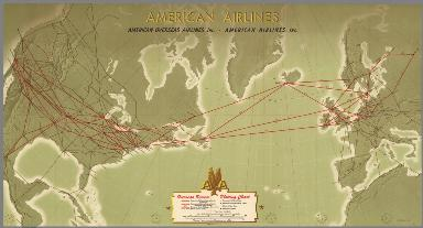American Airlines Overseas Service Plotting Chart