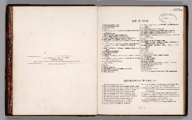 Contents: List of maps. Geographical tables, etc.
