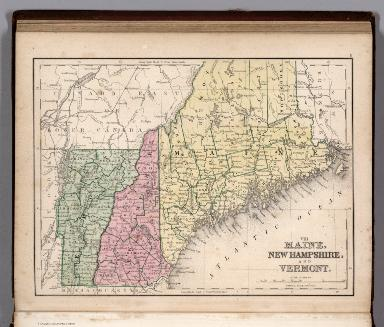 Map No. VIII. Maine, New Hampshire and Vermont