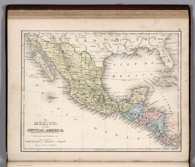 Map No. XX. Mexico and Central America