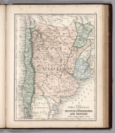 Map No. XXVIII. Chile, Paraguay, The Argentine Confederation and Uruguay